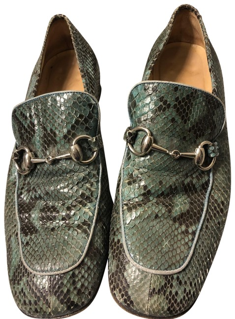 Item - Turquoise Python Loafers Flats Size US 8 Wide (C, D)
