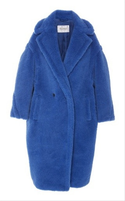 Item - Blue Teddy Bear Icon Coat Size 4 (S)