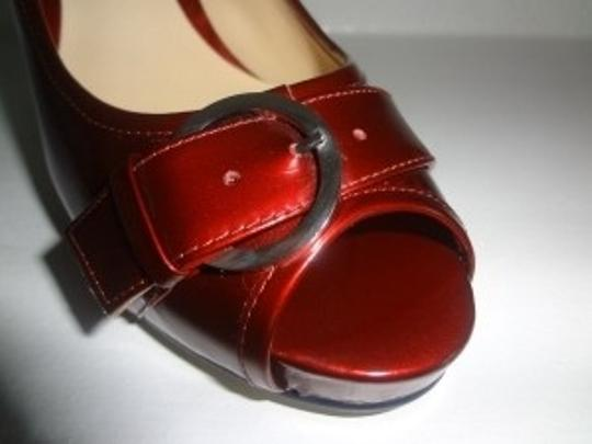 Preview International Candy Apple Peep Red Pumps
