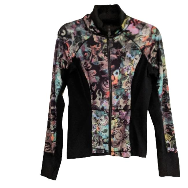 Item - Black with Floral Athletic Activewear Outerwear Size 6 (S)