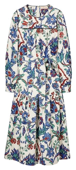 Item - Floral Multi Quilted Yoke Mid-length Casual Maxi Dress Size 4 (S)