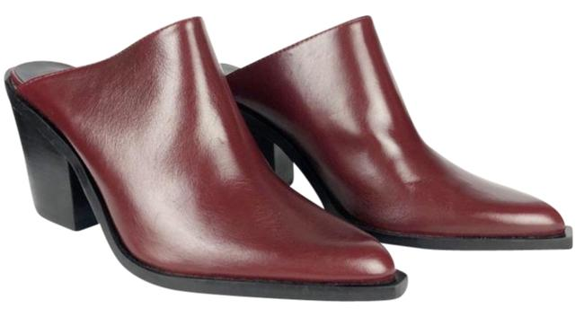 Item - Red Heeled Leather Mules/Slides Size EU 40 (Approx. US 10) Regular (M, B)