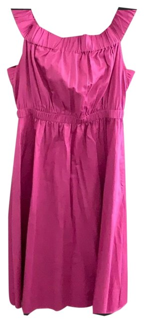 Item - Pink Mid-length Short Casual Dress Size 4 (S)