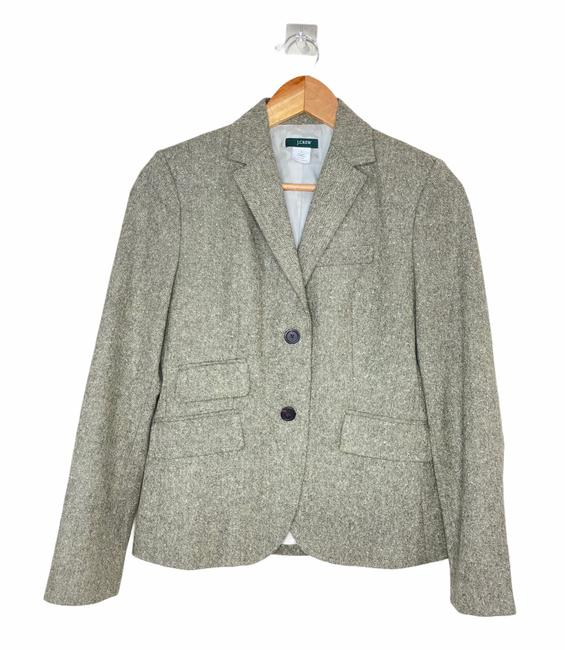 J.Crew Brown Tweed with Elbow Patches Blazer Size 4 (S) J.Crew Brown Tweed with Elbow Patches Blazer Size 4 (S) Image 1