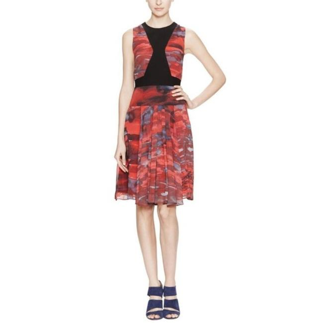 Item - Black Red Short Casual Dress Size 4 (S)
