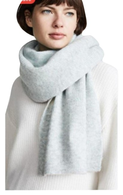 Item - Gray Blue Wool Scarf/Wrap