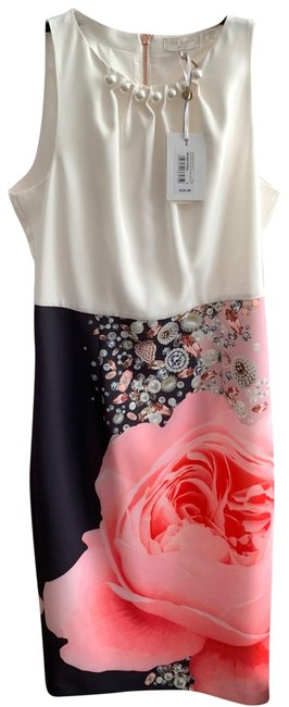 Item - Multicolor Blenheim Palace Ruched Bodycon Mid-length Cocktail Dress Size 8 (M)