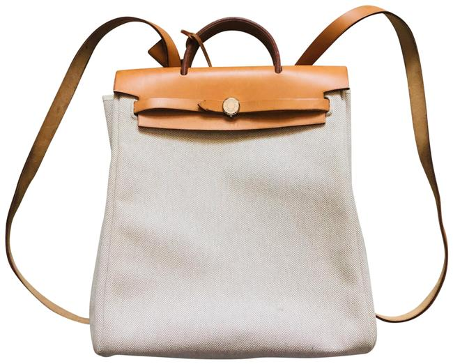 Item - Herbag 2-in-1 Sac A Dos Beige Canvas Backpack