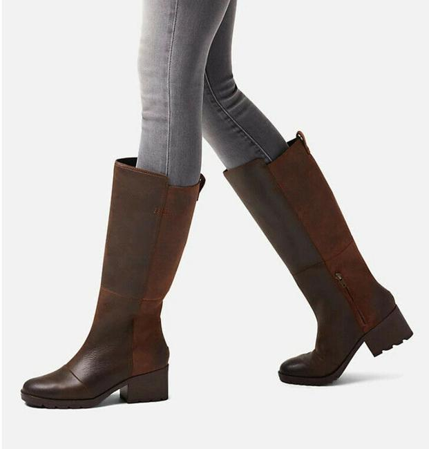 Item - Brown Cate Tall Heel Waterproof Riding Boots/Booties Size US 6.5 Regular (M, B)