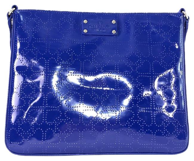 Item - Darby Metro Holiday Blue Patent Leather Cross Body Bag
