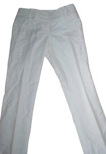 The Limited Linen Straight Pants White