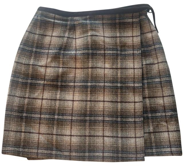 Item - Brown Plaid Wrap Skirt Size 4 (S, 27)