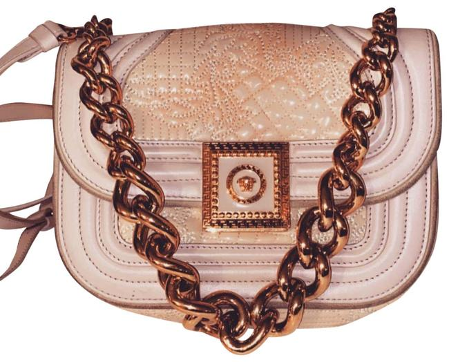 Item - Unknown Pink Gold Leather Cross Body Bag