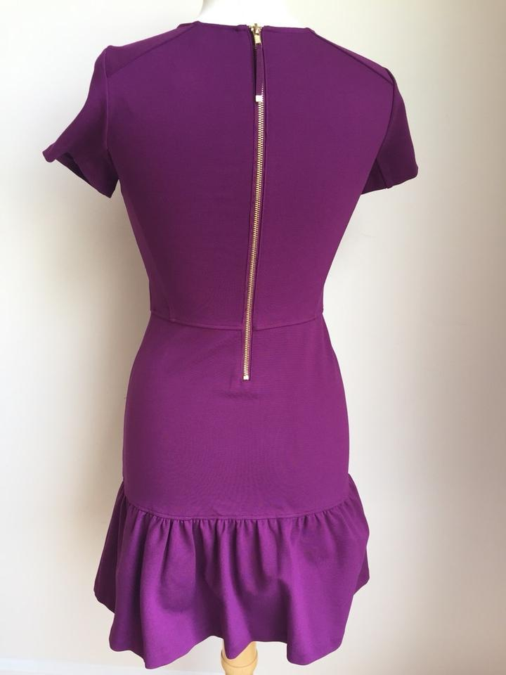 75c4afefc80e Juicy Couture Magenta Short Sleeve Crew Neck Structured Flirty Above Knee  Work Office Dress Size 4 (S) - Tradesy
