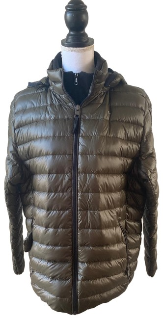 Item - Green Packable Down Hooded Puffer Coat Size 12 (L)