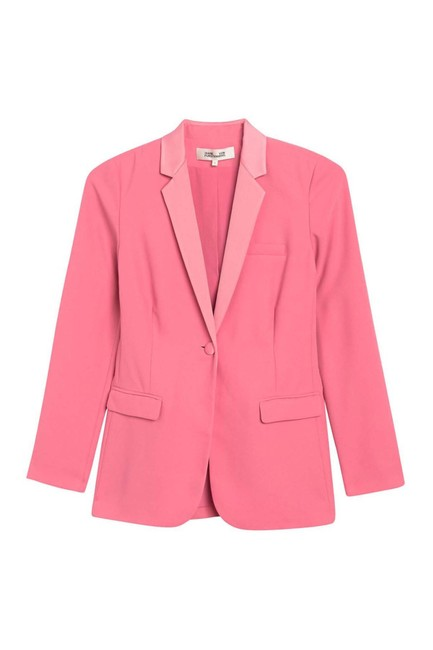 Item - Pink Vint Notch Lapel Blazer Size 2 (XS)