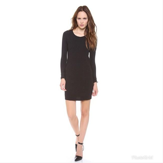 Item - Black Long Sleeve Bodycon Short Night Out Dress Size 2 (XS)