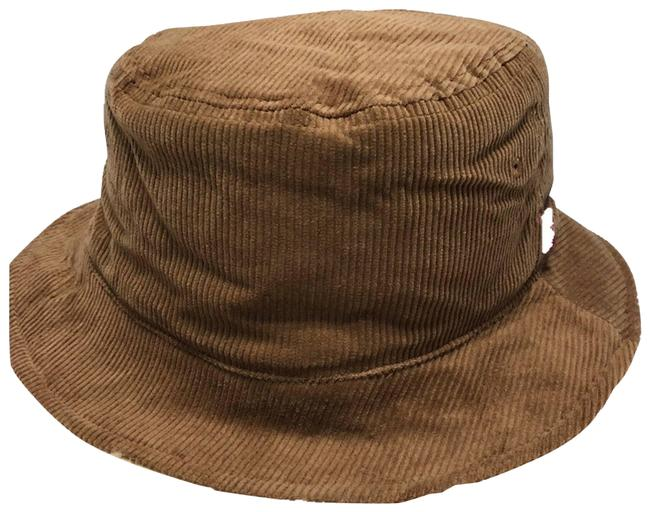 Item - Tan Bucket Reversible Corduroy Sherpa New Hat