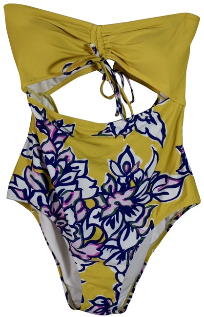 Item - Yellow L Jamie Sweetheart Swimsuit New One-piece Bathing Suit Size 14 (L)
