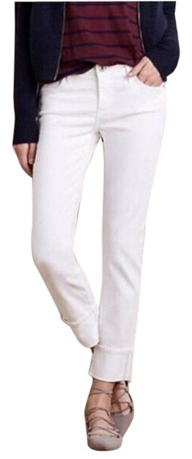 "Item - White Light Wash ""The Stevie Cuff"" Straight Leg Jeans Size 28 (4, S)"