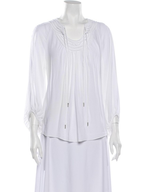 Item - White Aquilina Neck Blouse Size 6 (S)