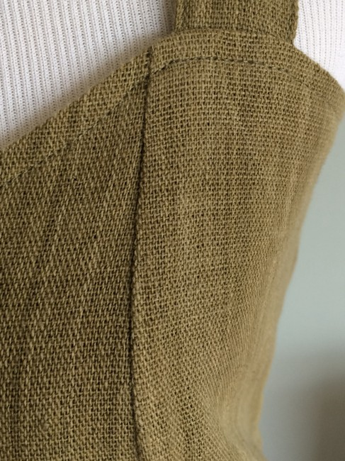 Other short dress Muted Pea Green Heavy Linen on Tradesy