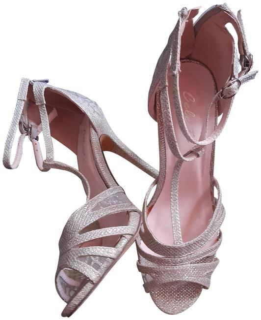 Item - Silver Wendy-02' Lace Accent High-heel Sandals Size US 7.5 Regular (M, B)