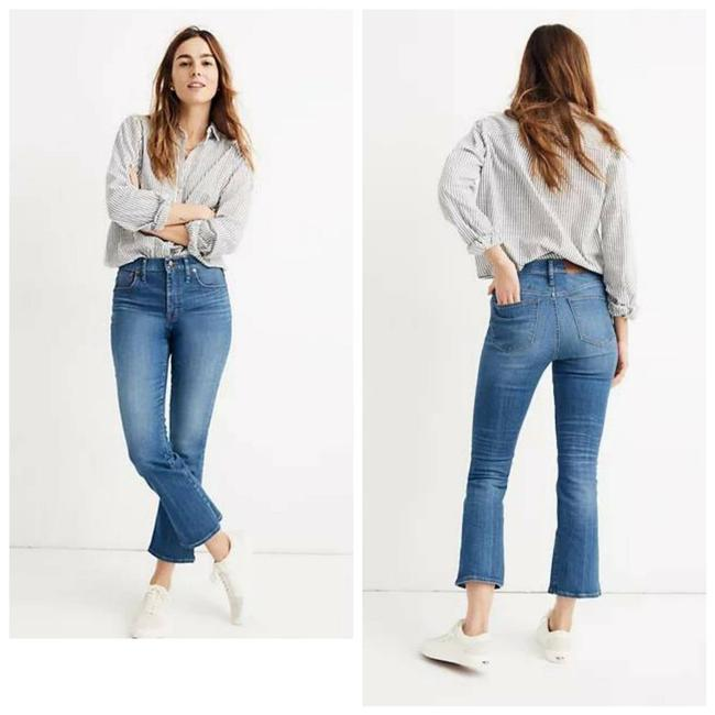Item - Blue Medium Wash Tall Cali Demi-boot In Tierney Eco Edition Flare Leg Jeans Size 22 (Plus 2x)
