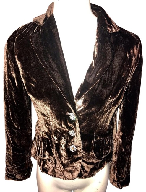 Item - Brown Velvet Blazer Size 2 (XS)