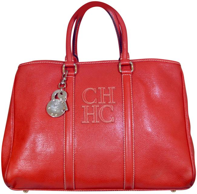 Item - Charm Matteo Red Leather Tote