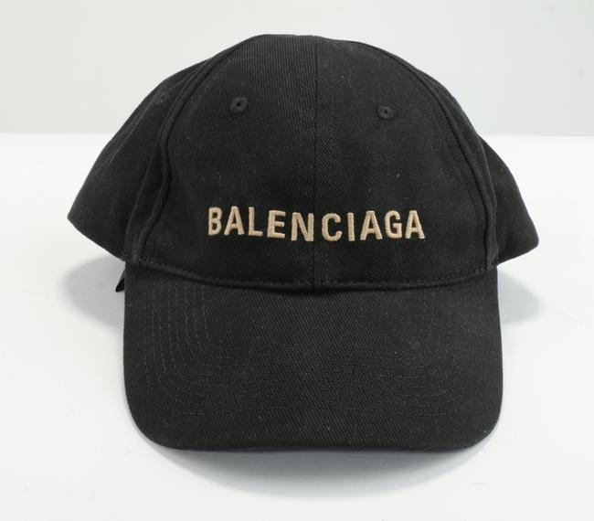 Item - Black/Tan Classic Baseball Cap with Embroidered Logo Men's Jewelry/Accessory