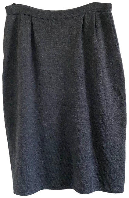 Item - Gray Santana Knit Pencil Skirt Size 10 (M, 31)