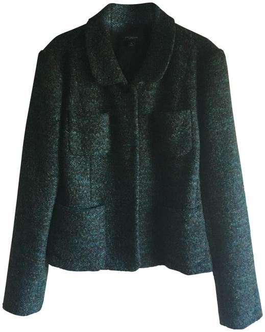 Item - Green-brown Tweed Chanel-style Blazer Size 14 (L)