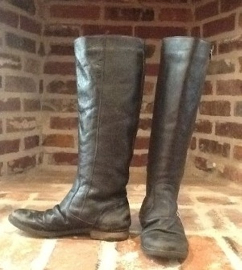 Steve Madden Distressed Black Boots