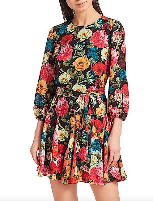 Alice + Olivia Multi with Tag W Mina Puff-sleeve W/ Belt Short Night Out Dress Size 6 (S) Alice + Olivia Multi with Tag W Mina Puff-sleeve W/ Belt Short Night Out Dress Size 6 (S) Image 5