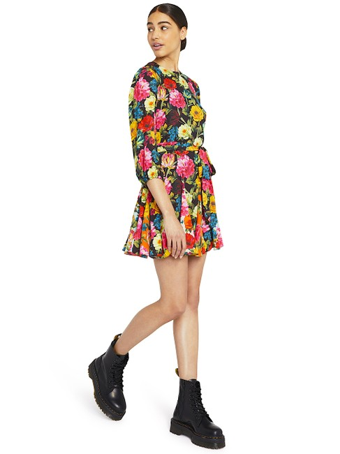 Alice + Olivia Multi with Tag W Mina Puff-sleeve W/ Belt Short Night Out Dress Size 6 (S) Alice + Olivia Multi with Tag W Mina Puff-sleeve W/ Belt Short Night Out Dress Size 6 (S) Image 7