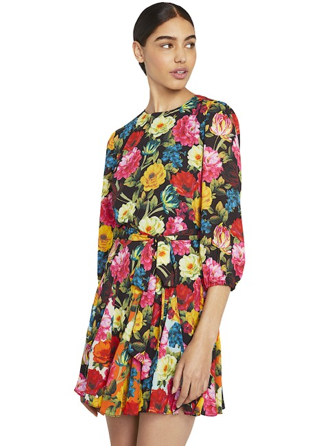 Alice + Olivia Multi with Tag W Mina Puff-sleeve W/ Belt Short Night Out Dress Size 6 (S) Alice + Olivia Multi with Tag W Mina Puff-sleeve W/ Belt Short Night Out Dress Size 6 (S) Image 9