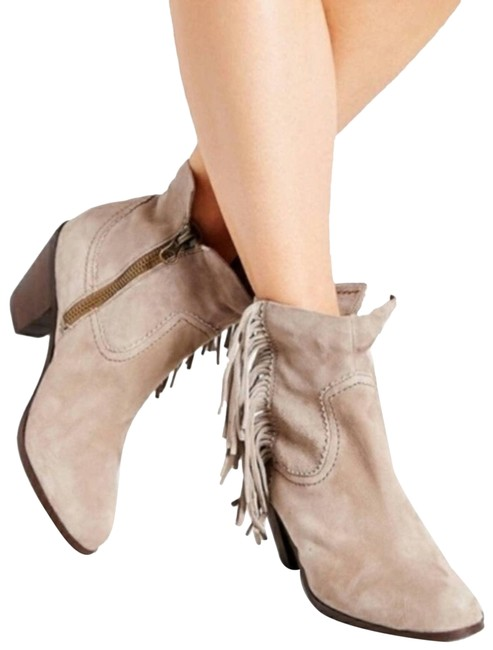 Item - Taupe New Louie Suede Leather Tassel Ankle Boots/Booties Size US 4 Regular (M, B)