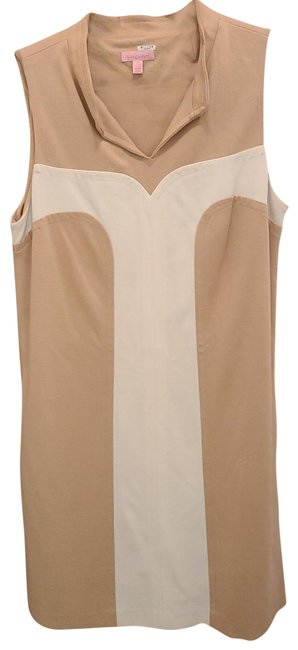 Item - Beige and White Mid-length Casual Maxi Dress Size 10 (M)