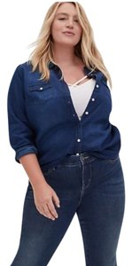 torrid Button Down Shirt Blue