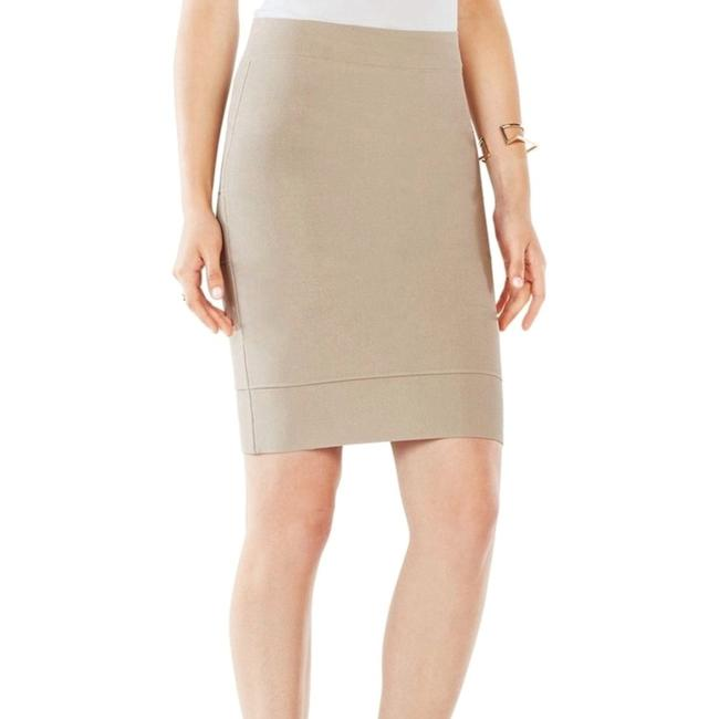 Item - Khaki Bcbg Power Bodycon Bandage Tan Brown Bondage Skirt Size 0 (XS, 25)