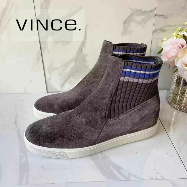Item - Gray Coleman High Top Sneakers Sock Ankle Boots Suede Platforms Size US 9.5 Regular (M, B)