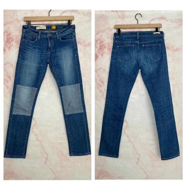 Item - Pilcro and The Letterpress Blue Patch Jeans-26 Skinny Jeans Size 26 (2, XS)
