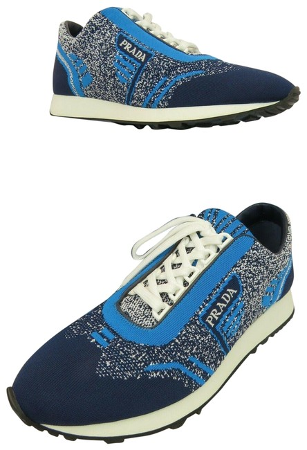 Item - Blue 1e371l Fabric Trainers Knit Logo Lace Up It Sneakers Size EU 41 (Approx. US 11) Regular (M, B)