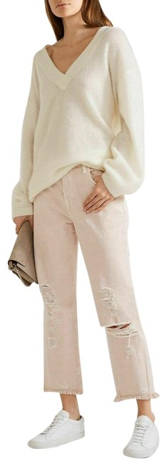 Item - Coquette Beige Ivy High Rise Distressed Crop Straight Leg Jeans Size 30 (6, M)