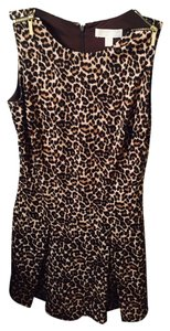 Michael Kors short dress Brown and white on Tradesy