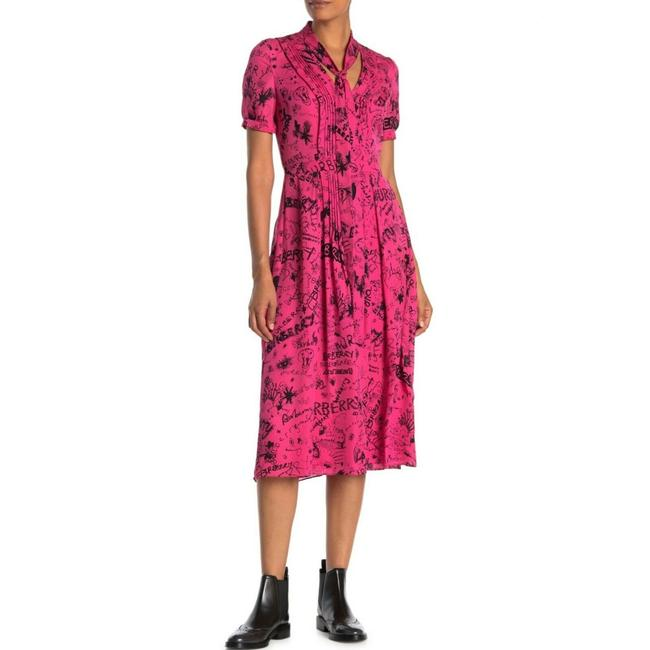 Item - Pink with Logo Mid-length Night Out Dress Size 4 (S)