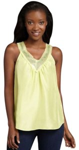 Rebecca Taylor Sleeveless Medium Yellow Lime Top Lime, Yellow
