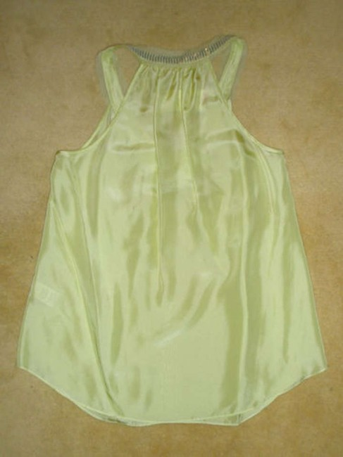 Rebecca Taylor Sleeveless Medium Top Lime, Yellow