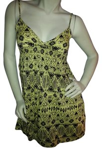 a6d5b22b33 Divided by H M short dress Yello with black graphic print on Tradesy